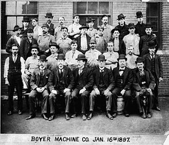 American Arithmometer Company - Employees gather outside the Boyer Machine shop in St. Louis, MO 1897