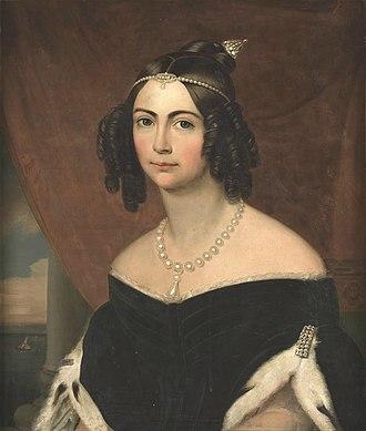 Amélie of Leuchtenberg - Image: Anônimo D. Amélia, duquesa de Bragança