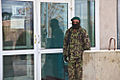 An Afghan National Army (ANA) soldier with the 203rd Corps provides security outside of the Paktia Regional Military Hospital at Forward Operating Base Thunder, Paktia province, Afghanistan, March 24, 2014 140324-A-RU942-299.jpg