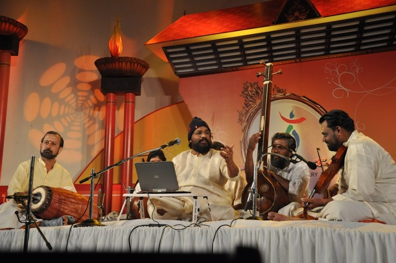An Indian classical music, four persons