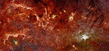 Infra-red image of the centre of our Milky Way...