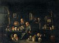 An old man consulting a book and holding a flask in a room w Wellcome V0017151.jpg