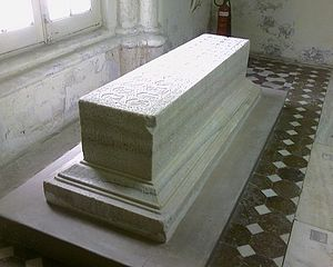 Tomb of Anarkali - The richly carved cenotaph is made of white marble.