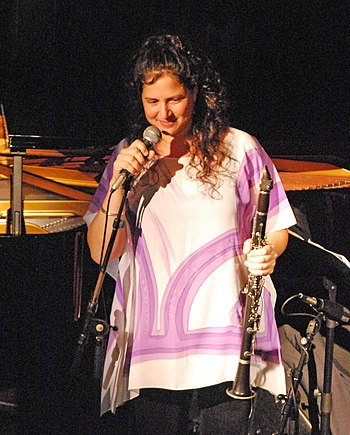 English: Anat Cohen at a concert at Treibhaus ...