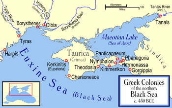 Gorgippia and other ancient Greek colonies along the north coast of the Black Sea