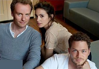 Teun Luijkx - Teun Luijkx (right), along with Mark Waschke and Verónica Echegui in the film &ME (2013).