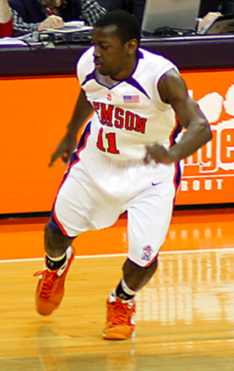 Andre Young (basketball) - Young playing for the Clemson Tigers in 2009