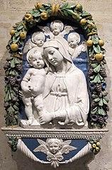 La Vierge à l'Enfant avec trois chérubins