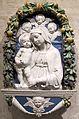 Andrea della robbia (attr.), madonna col bambino e tre cherubini, 1470-1520 ca..JPG