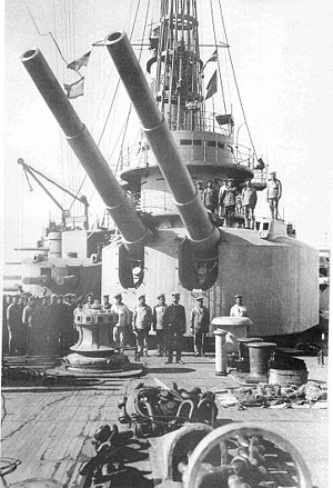 Russian 12 inch 40 caliber naval gun - Fore turret of ''Andrei Pervozvanny''