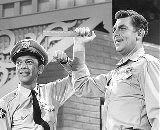 The Andy Griffith Show - Knotts and Griffith as their characters in a still taken from the October 7, 1965 one-hour variety special The Andy Griffith, Don Knotts, and Jim Nabors Show