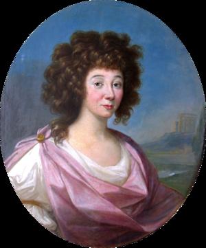 Charles Eugene, Prince of Lambesc - His wife Anna Cetner (Zetzner) by Pietro Labruzzi
