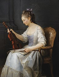 Anne Vallayer-Coster: Portrait of a violinist