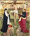Anonyme - Christ en croix entre la Vierge, saint Jean et les donateurs présumés , le roi Charles VII et le Dauphin - Musée des Augustins - 2004 1 302.jpg