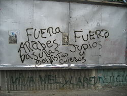 Anti-Semitic Graffiti in San Pedro Sula.JPG