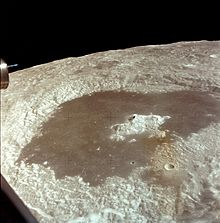 A very large lunar crater seen from orbit