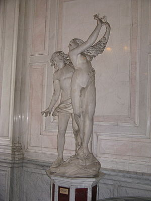 A statue of Apollo and Daphne after Bernini at...
