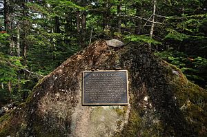 Appalachian Trail - Marker on the trail near Mount Sugarloaf in Maine commemorating its completion.