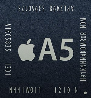 Apple A5 - Image: Apple A5 APL2498