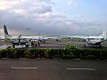 Apron view from Dar-es-Salaam Airport Terminal I boarding gate.jpg