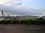 Apron view from Dar-es-Salaam Airport Terminal I boarding gate.jpg