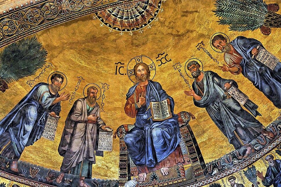 Apse mosaic Basilica of St Paul Outside the Walls