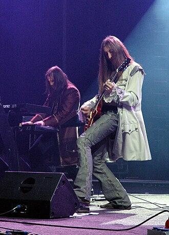 Steinar Sverd Johnsen - Sverd (left) with Arcturus guitarist Tore Moren