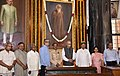 Arjun Ram Meghwal, the Minister of State for Parliamentary Affairs and Statistics & Programme Implementation, Shri Vijay Goel and other dignitaries paid tributes at the portrait of Gurudev Rabindranath Tagore.JPG