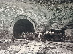 Arlbergbahn tunnel construction