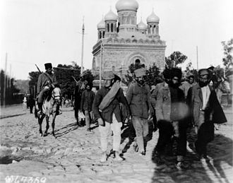Desertion - Armenian soldiers in 1919, with deserters as prisoners