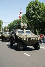 Armoured car during the independence day of Georgia, Tbilisi (1).jpg