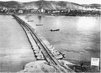 107th Engineer Battalion - US Army's Victor Bridge over the Rhine, the longest tactical floating bridge ever constructed, built by the 107th engineers