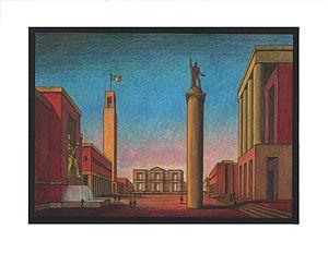 """Arnaldo dell'Ira - """"Piazza d'Italia"""", 1934"""