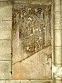 Arpajon (91), église Saint-Clément, dalle funéraire à effigie gravée de Pierre de Chastres, mort en 1349, et de sa femme.jpg