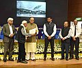 Arun Jaitley presenting the Life Time Achievement award to Shri Bhawan Singh, at the 5th National Photography Awards Ceremony, in New Delhi.jpg