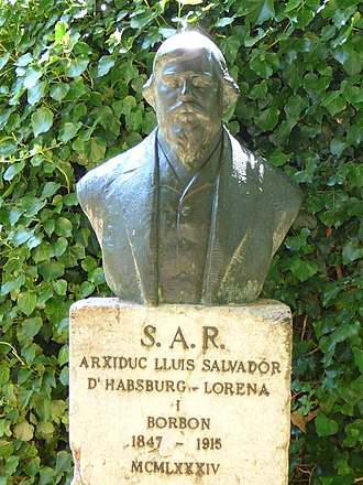 Mallorca - A sculpture of Ludwig Salvator, in Majorca