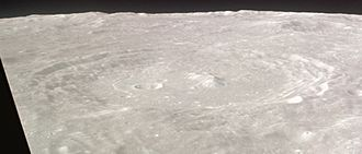 Arzachel (crater) - Oblique view from Apollo 12, facing south
