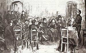 Juan Larrea (politician) - Meeting of the Assembly of Year XIII. Lithograph of the time.