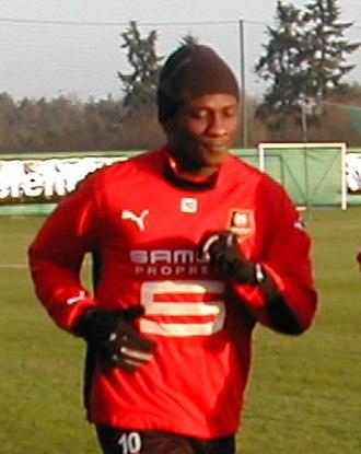 Asamoah Gyan - Gyan training whilst at Stade Rennais F.C.