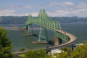 Astoria–Megler Bridge - Image: Astoria Megler Bridge in 2009