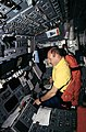 Astronaut Kenneth Bowersox at Pilot's Station on Endeavour during STS-61 (27514163874).jpg