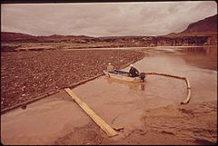 At Site of Oil - Spill Clean - Up Operations in a Remote Area of the San Juan River, 10-1972 (3814971740).jpg
