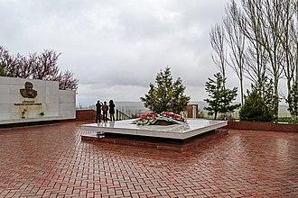 Chinghiz Aitmatov - Grave of Aitmatov near Bishkek
