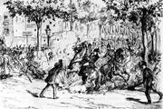 Attentat von Paulino Pallás, zeitgenössische Zeichnung
