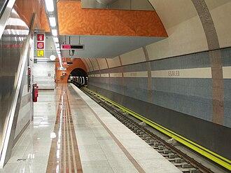Egaleo metro station - Westbound station platform