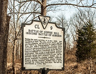Auburn Battlefield - Auburn Battlefield marker, February 2014