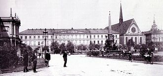 Augusteum (Leipzig) - Augusteum and Paulinerkirche in 1890.