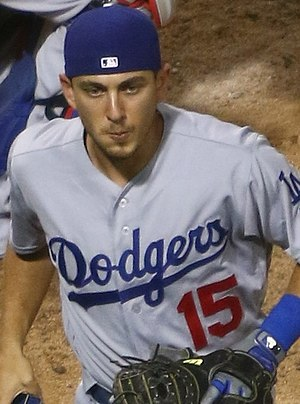 Austin Barnes - Barnes with the 2017 Los Angeles Dodgers