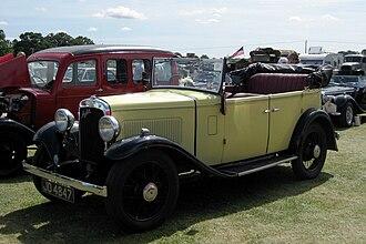 Austin 12/6 - Light Twelve-Six Open Road tourer registered November 1934