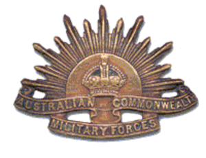 William Tasker - Image: Australian Army Rising Sun Badge 1904